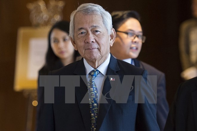 Ngoại trưởng Philippines Perfecto Yasay. (Nguồn: AFP/TTXVN)